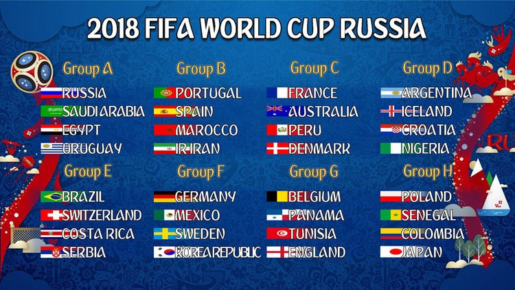 FIFA WorldCup 2018 line up