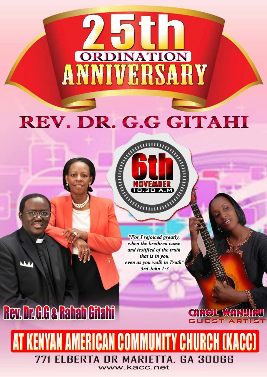 Pastor GG 25th Flyer
