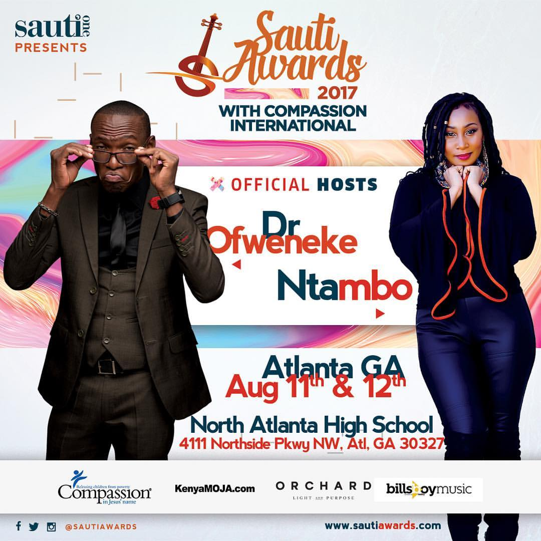 Sauti Awards Host