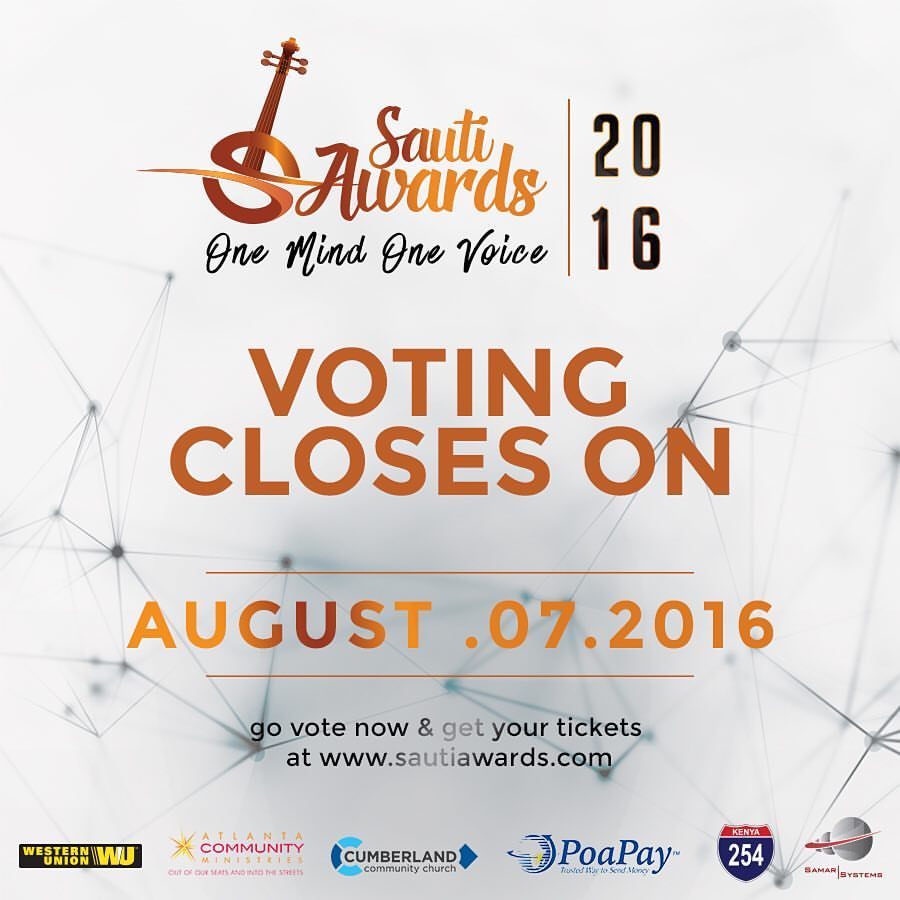 SautiAwardsVotingClosed