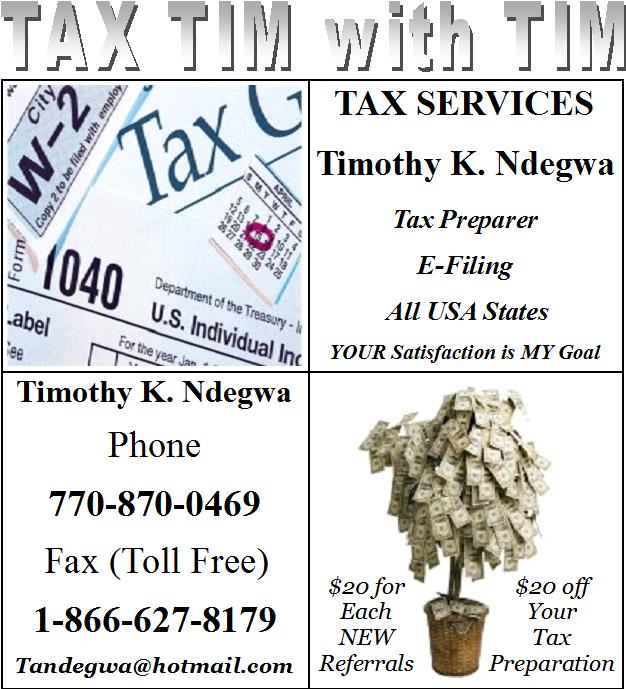 Tax Tim With Tim Flyer