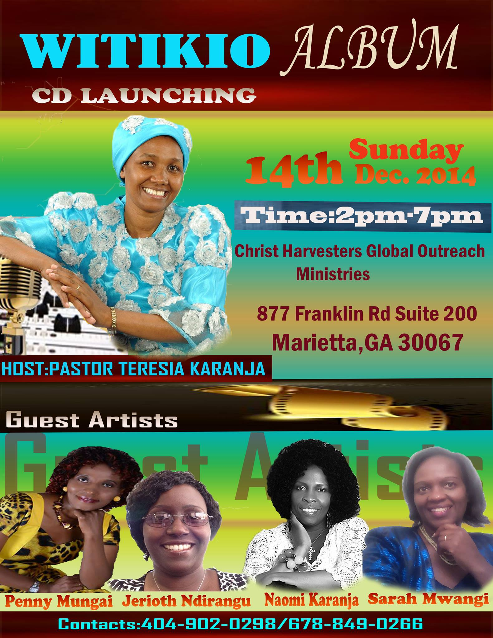 Teresia.Karanja.CD Launch